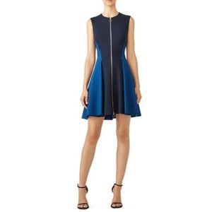 Elie Tahari Dresses - NWT Flattering Colorblock Scuba Fit & Flare Dress